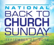 Back to Church Sunday set for Sept. 21